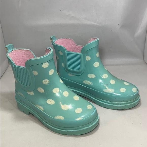 Cat & Jack Other - Toddler Girl Tiffany Polka Dot Rain Boots Size 7/8